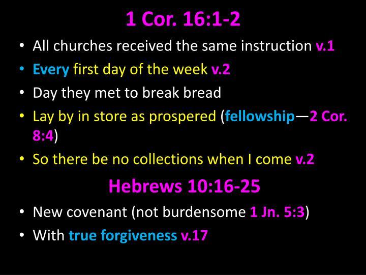 1 Cor. 16:1-2