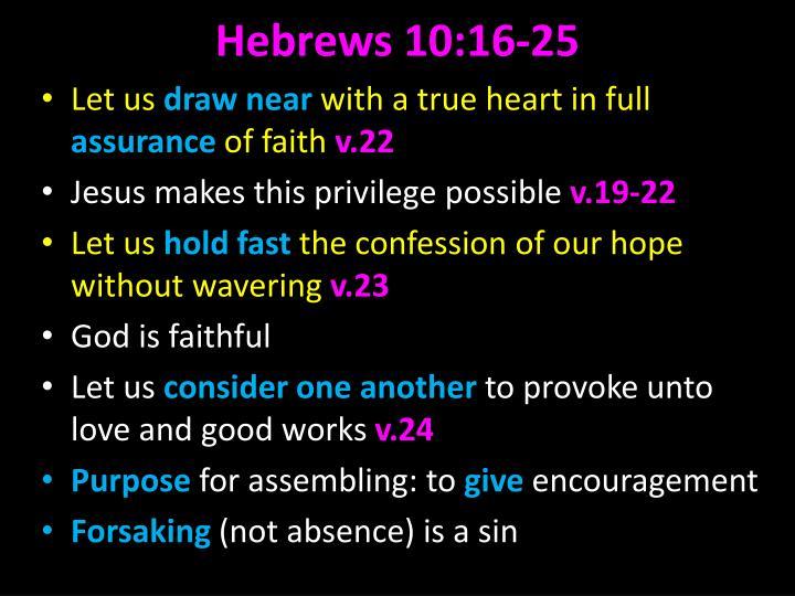 Hebrews 10:16-25