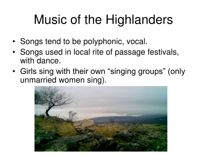 Music of the Highlanders