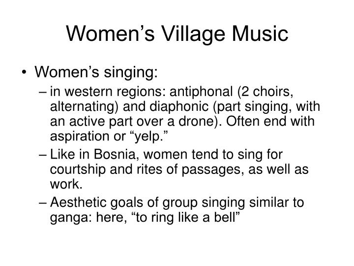 Women's Village Music