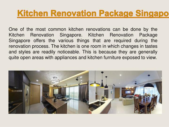 Kitchen Renovation Package Singapore