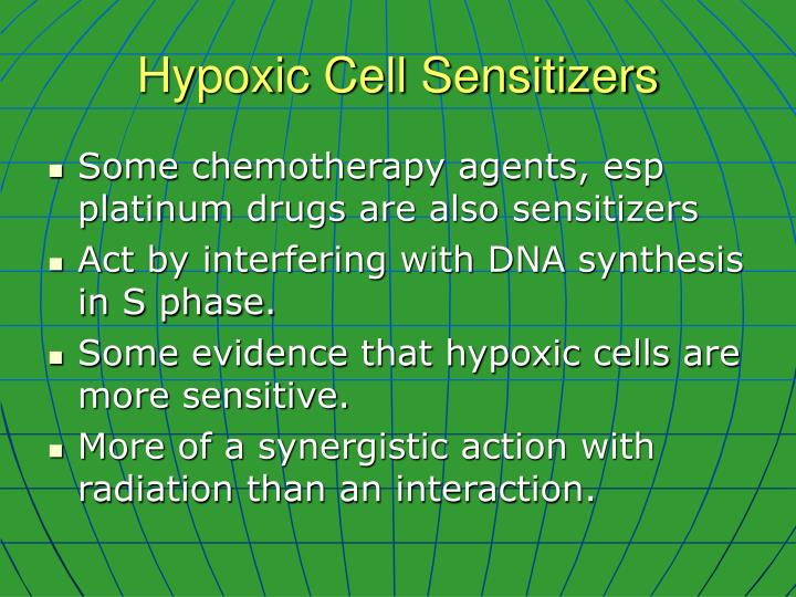 Hypoxic Cell Sensitizers