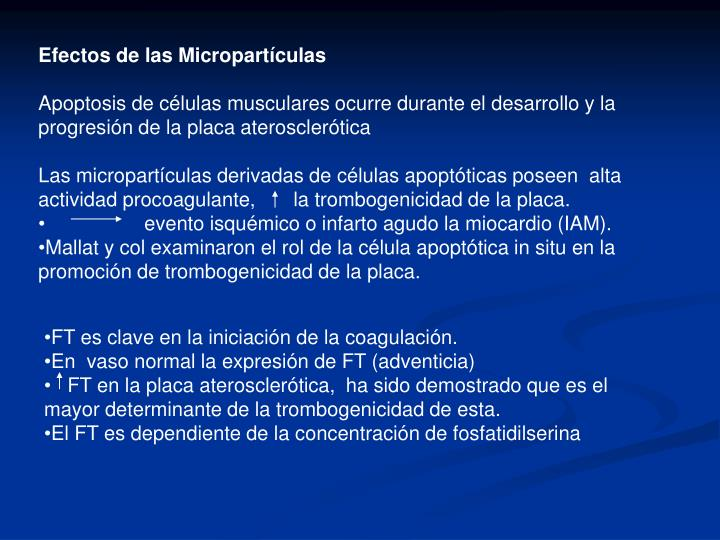 Efectos de las Micropartculas