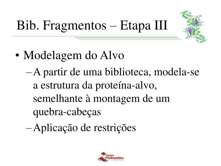 Bib. Fragmentos – Etapa III