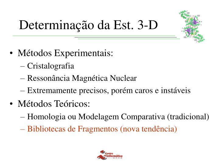Determinação da Est. 3-D