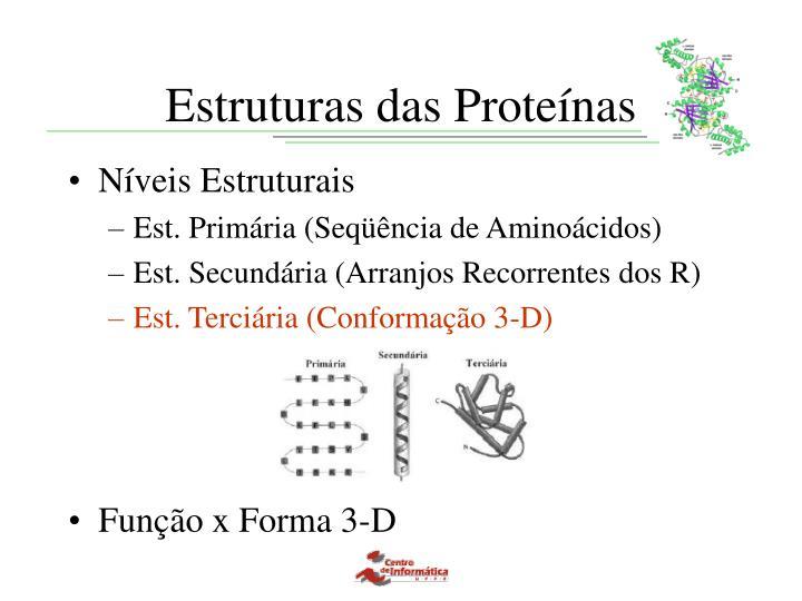 Estruturas das Proteínas