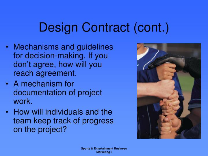 Design Contract (cont.)
