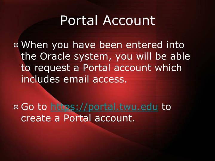 Portal Account