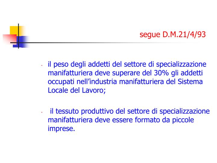 segue D.M.21/4/93