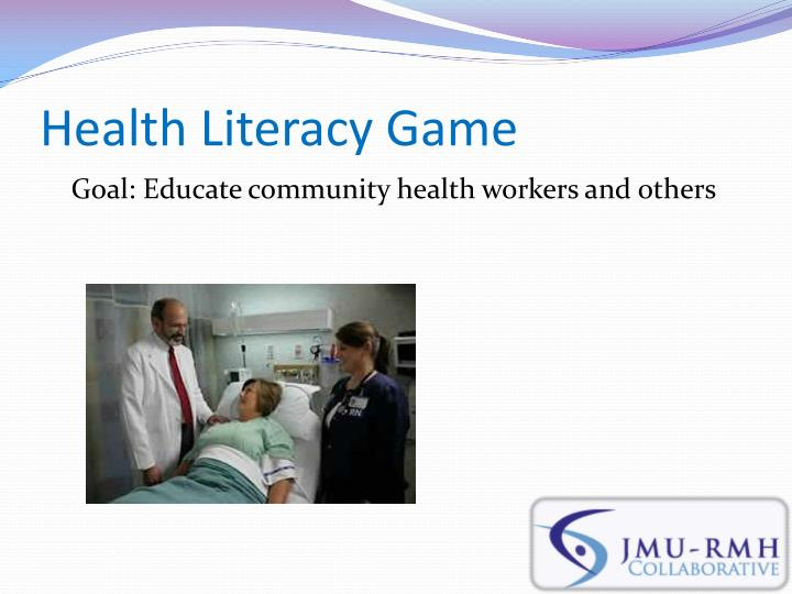 Health Literacy Game