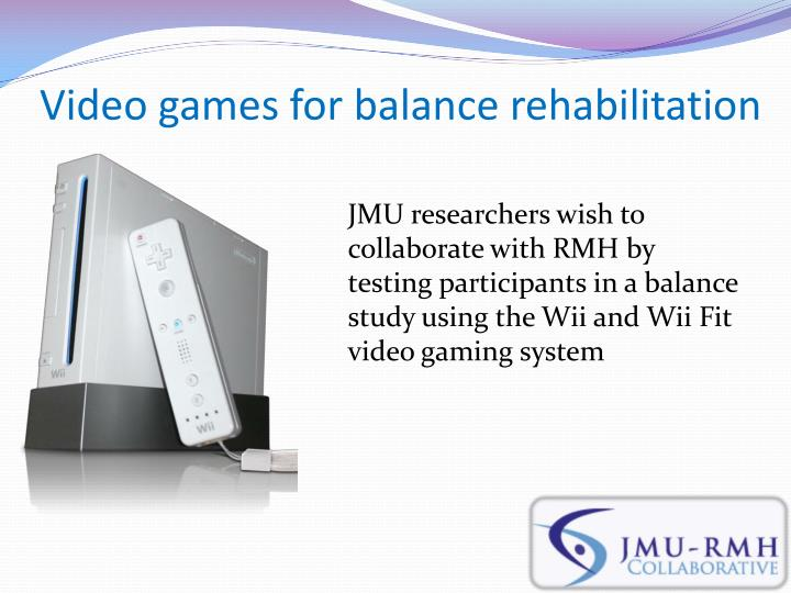 Video games for balance rehabilitation