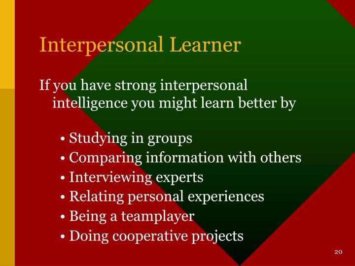 Interpersonal Learner