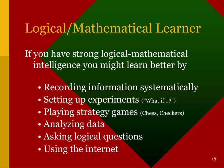 Logical/Mathematical Learner