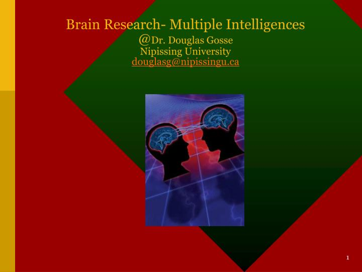 Brain Research- Multiple Intelligences