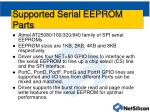 supported serial eeprom parts