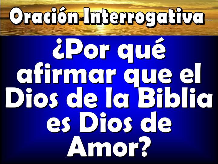 Oración Interrogativa