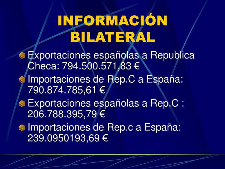 INFORMACIÓN BILATERAL