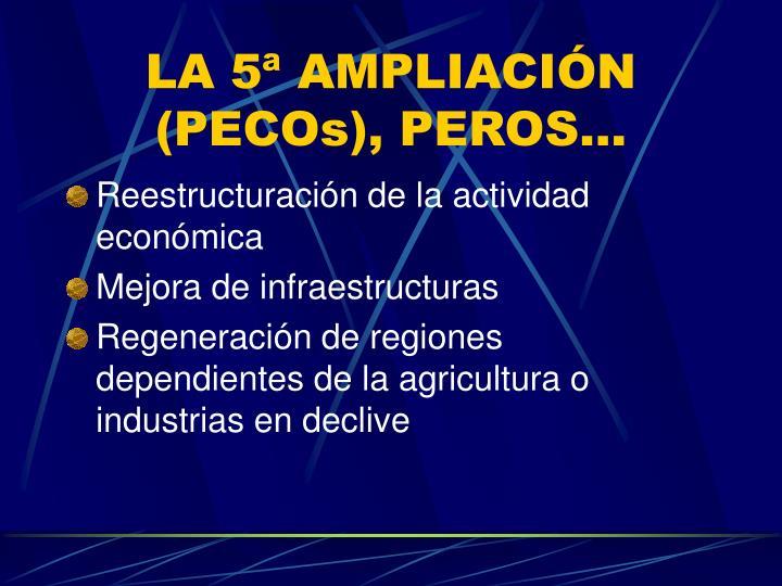 LA 5ª AMPLIACIÓN (PECOs), PEROS...