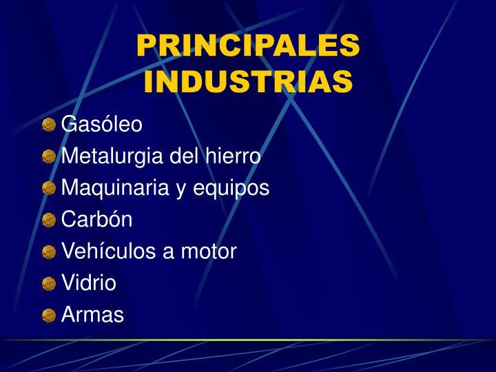 PRINCIPALES INDUSTRIAS