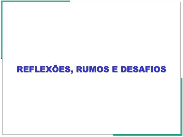 REFLEXES, RUMOS E DESAFIOS