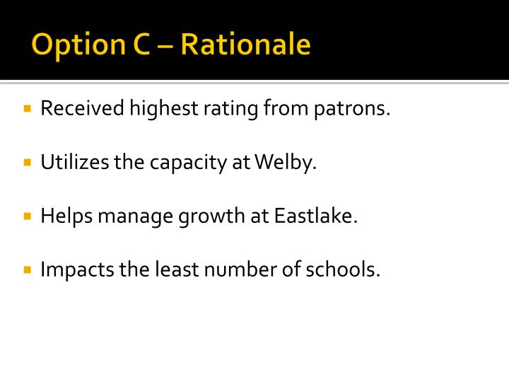 Option C – Rationale