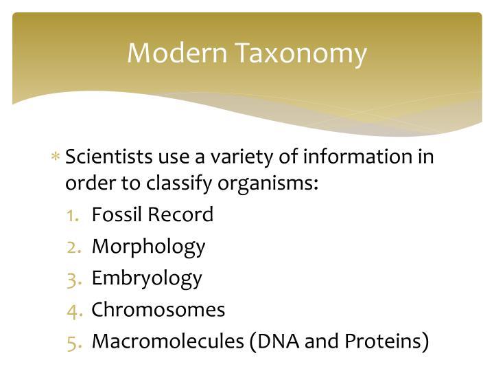 Modern Taxonomy