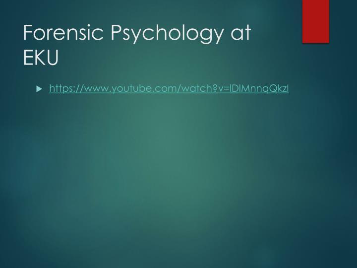 Forensic Psychology at EKU