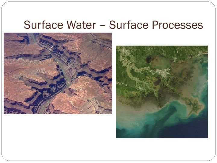 Surface Water – Surface Processes