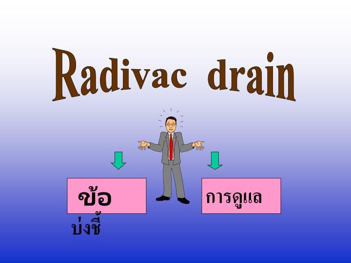 Radivac  drain