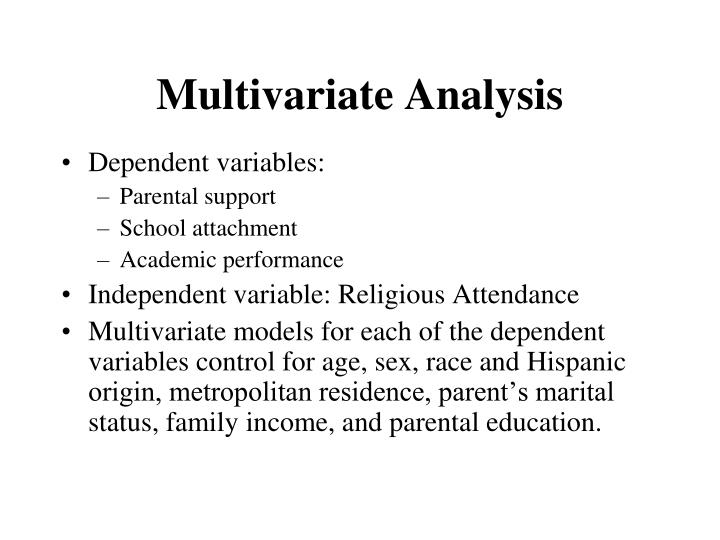 Dependent variables: