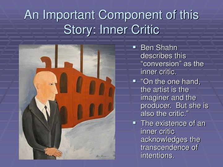 An Important Component of this Story: Inner Critic