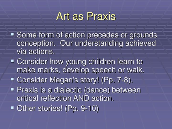 Art as Praxis
