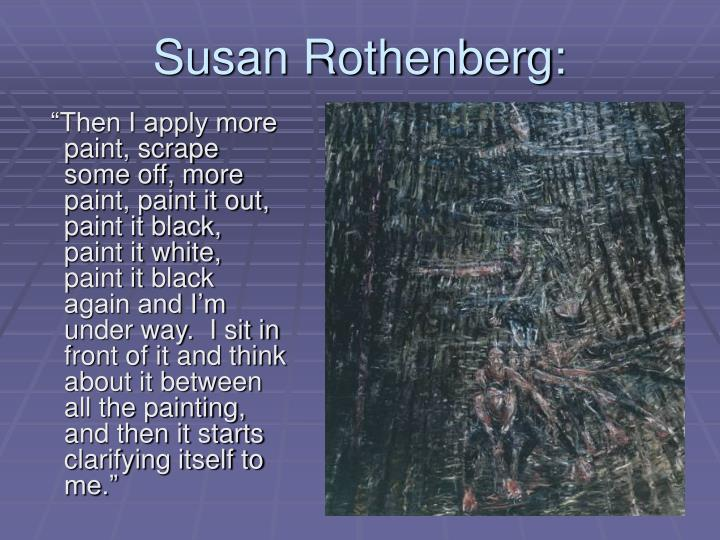 Susan Rothenberg: