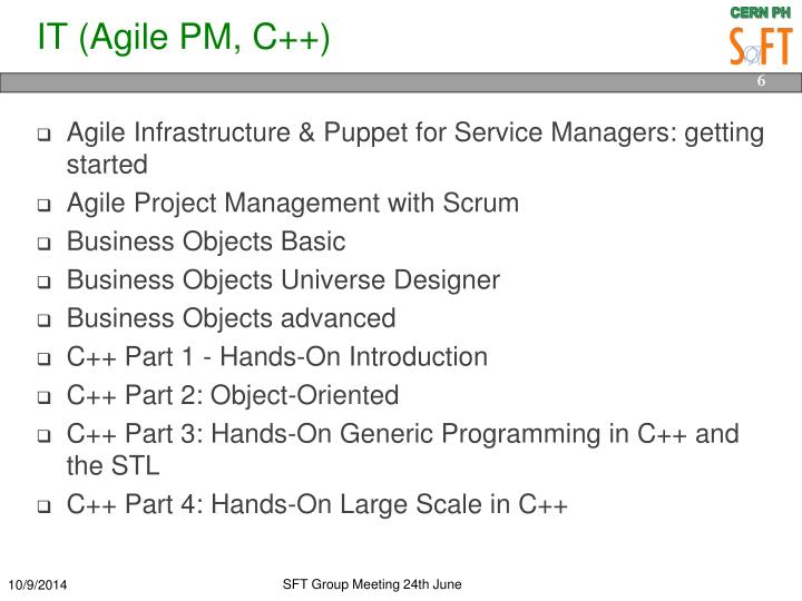 IT (Agile PM, C++)