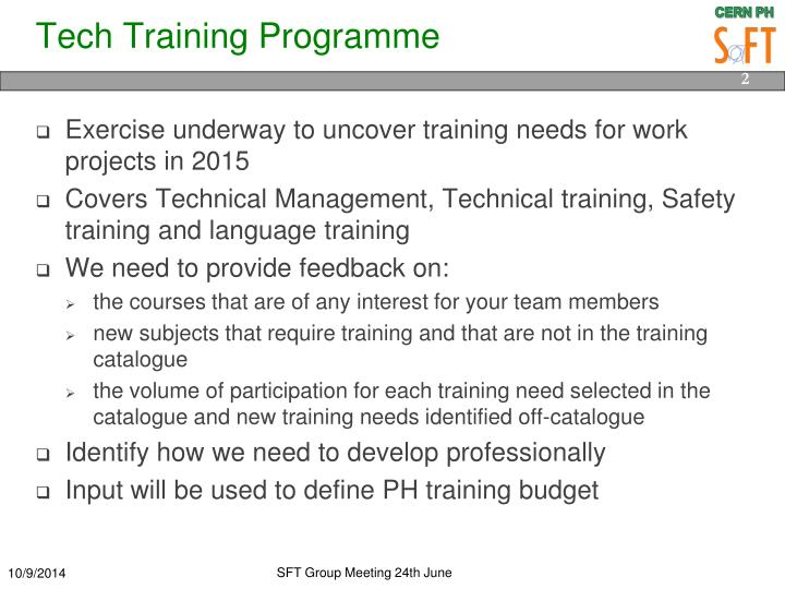 Tech training programme