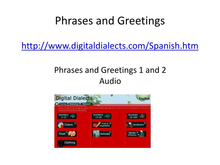 Phrases and Greetings
