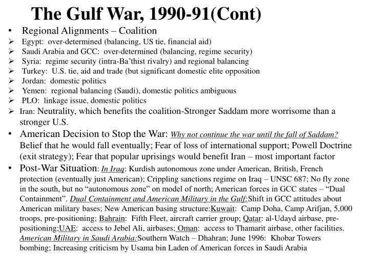 The Gulf War, 1990-91(