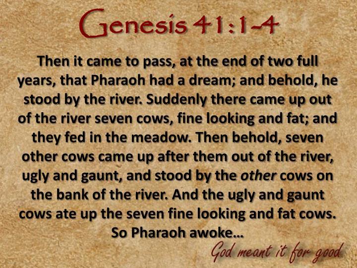 Genesis 41:1-4