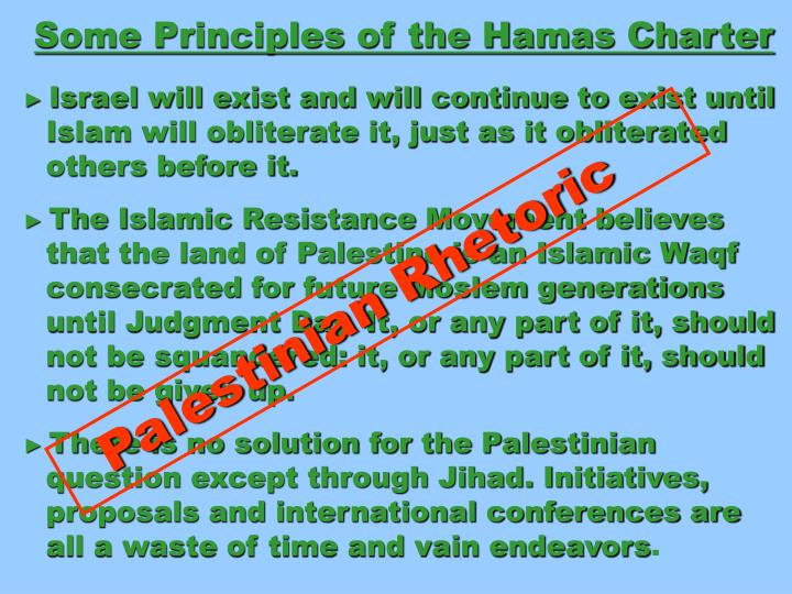 Some Principles of the Hamas Charter