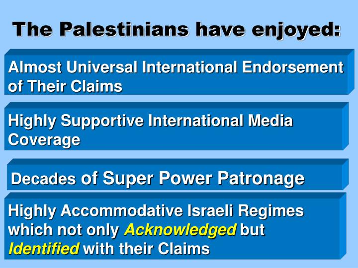 The Palestinians have enjoyed: