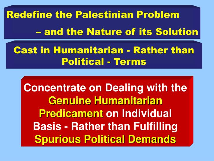Redefine the Palestinian Problem