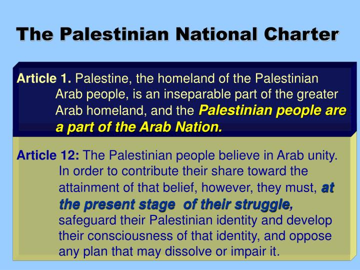 The Palestinian National Charter
