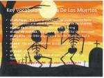 key vocabulary for dia de los muertos
