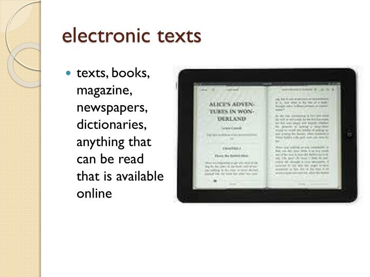 electronic texts