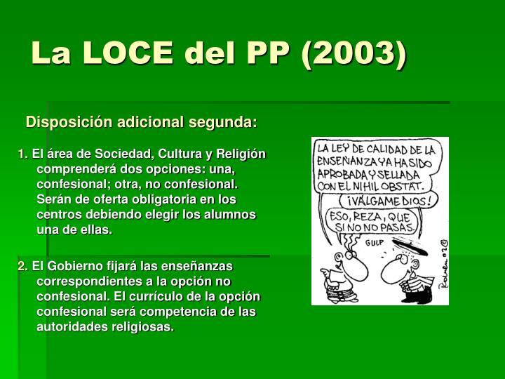 La LOCE del PP (2003)