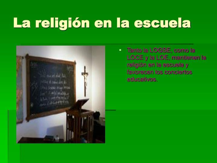 La religión en la escuela