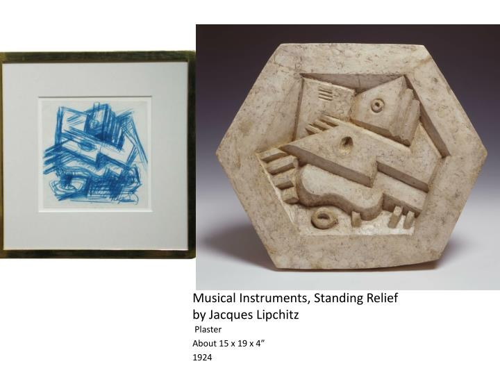 Musical Instruments, Standing Relief