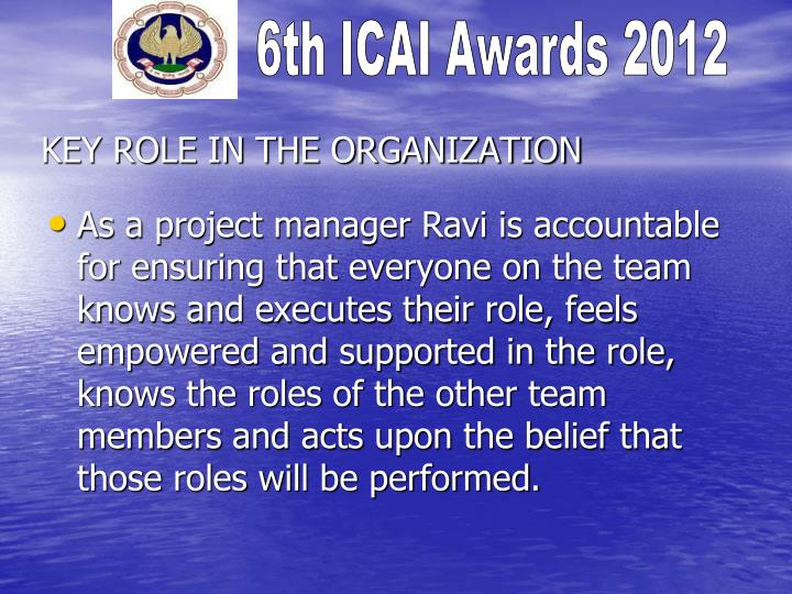 Key role in the organization