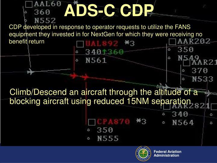 ADS-C CDP