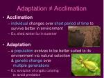 adaptation acclimation